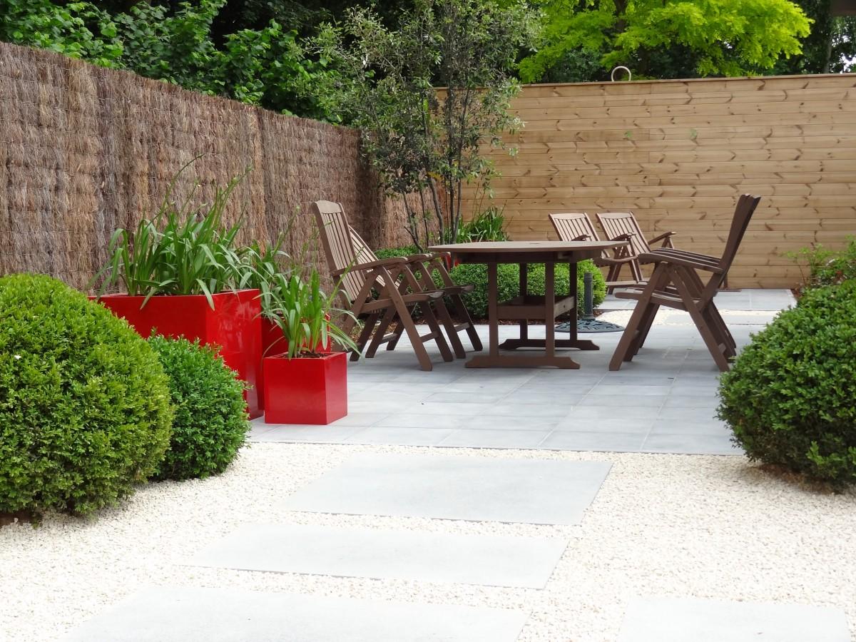 Onderhoudsvriendelijke Tuin Aanleggen : Aanleg kleine lounge tuin in oost vlaanderen groendesign