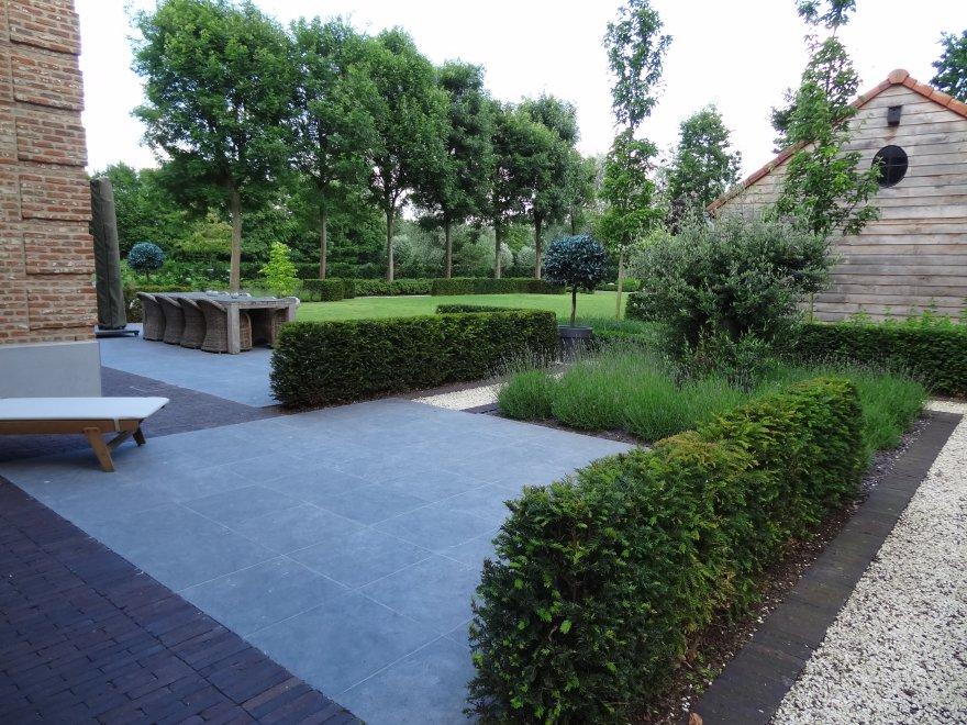 Aanleg van oprit en terras - Terras en tuin ontwikkeling foto ...